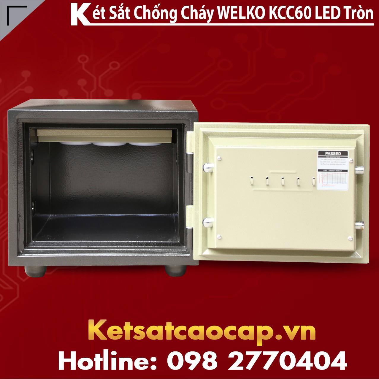 Két Sắt Chống Trộm KCC60 - Led Tròn