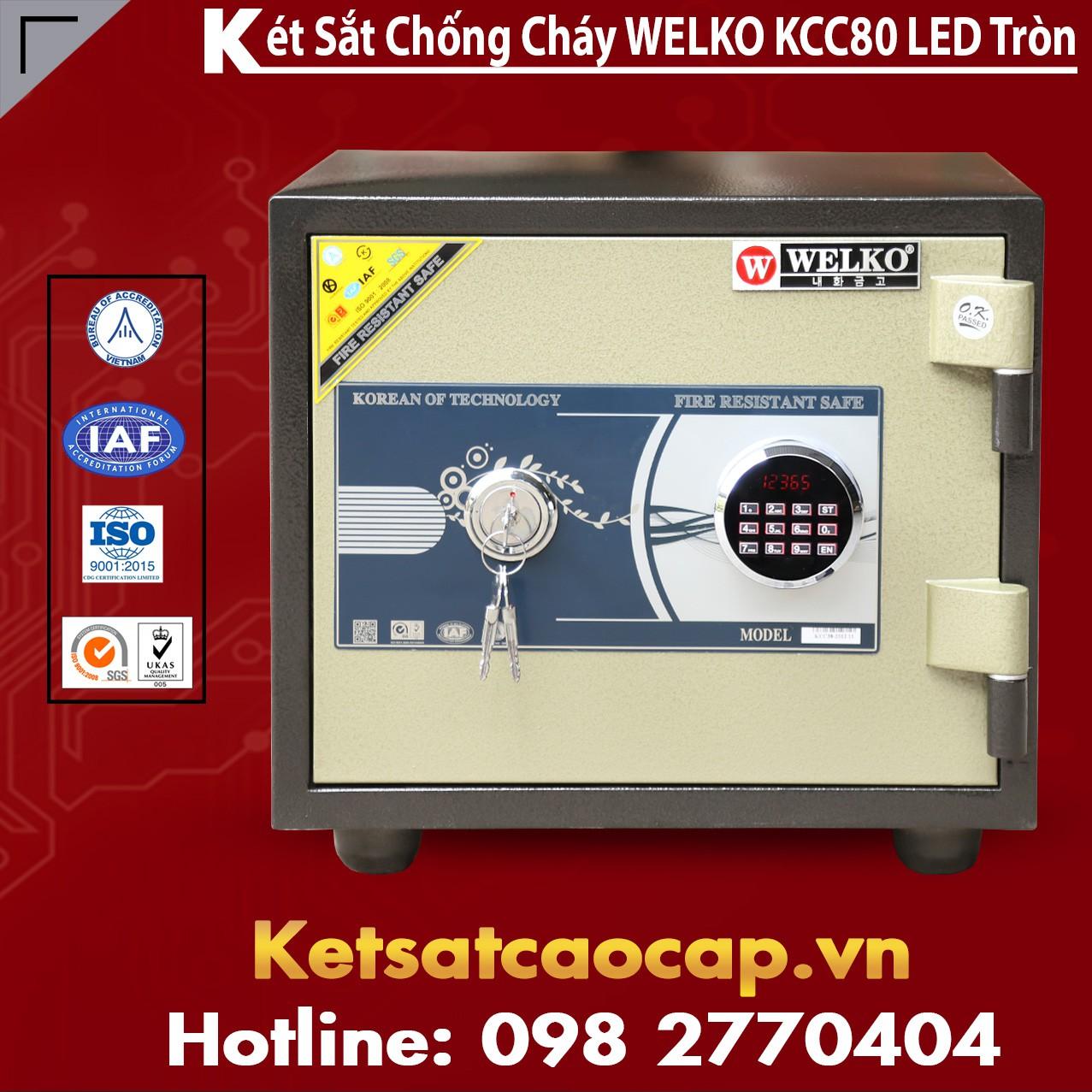 Két Sắt Chống Trộm KCC80 - Led Tròn