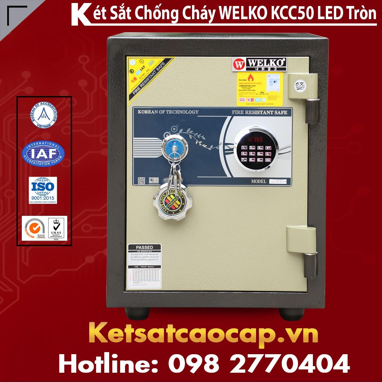 Két Sắt Chống Trộm KCC50 - Led Tròn