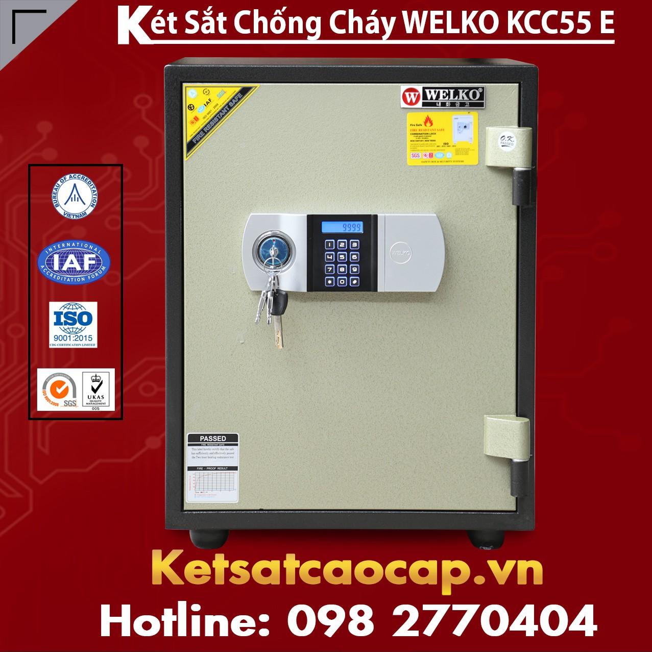 Két Sắt Điện Tử KCC55 E - Silver