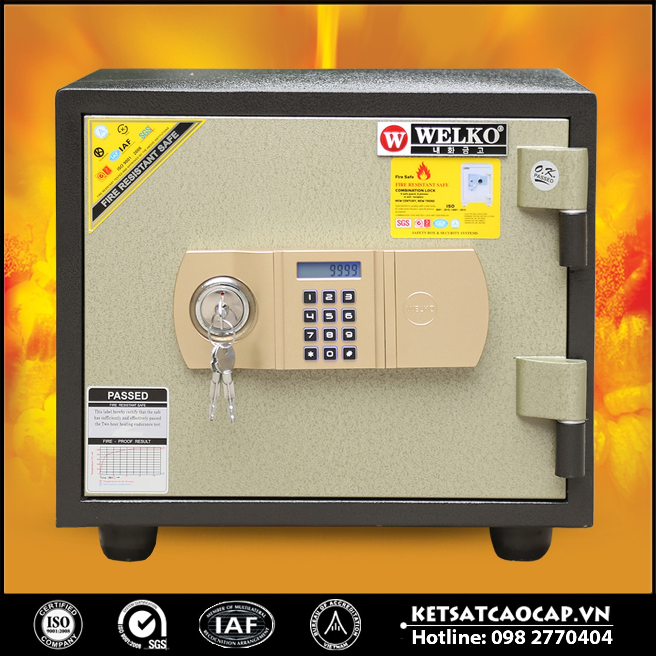 Két Sắt Chống Cháy LX600 - E Gold