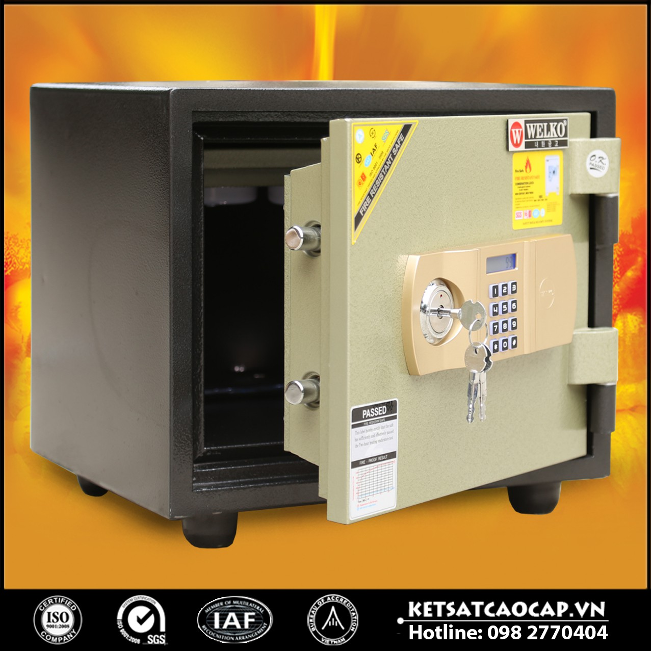 Két Sắt Chống Cháy LX410 - E Gold