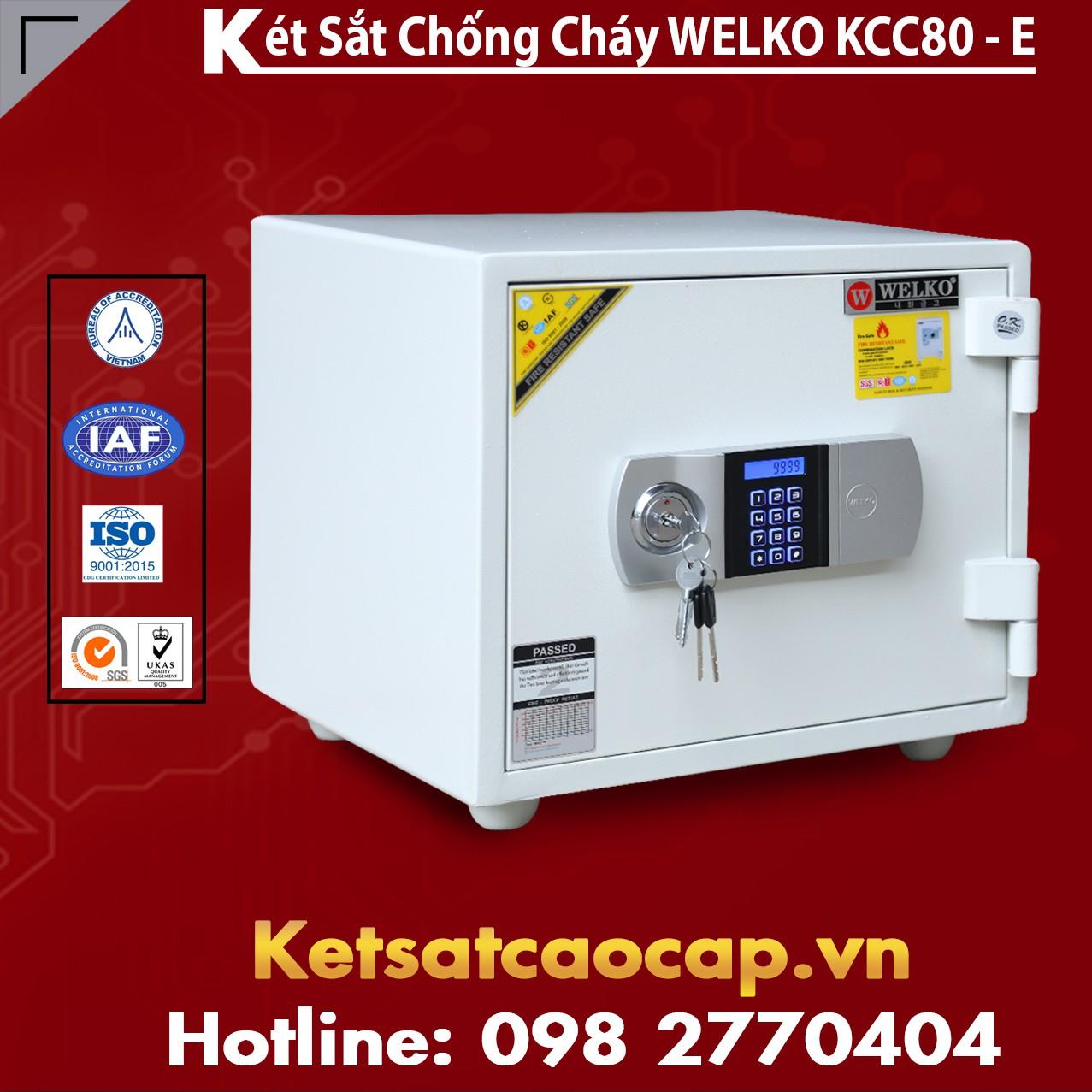 Két Sắt Giá Rẻ KCC80 E Silver - White