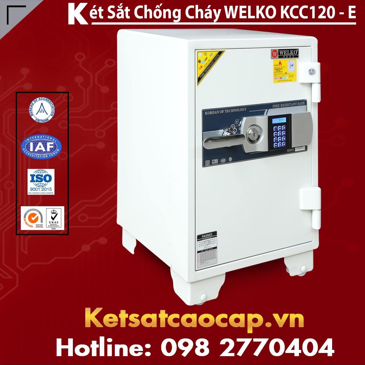 Két Sắt Giá Rẻ KCC120 E Silver - White