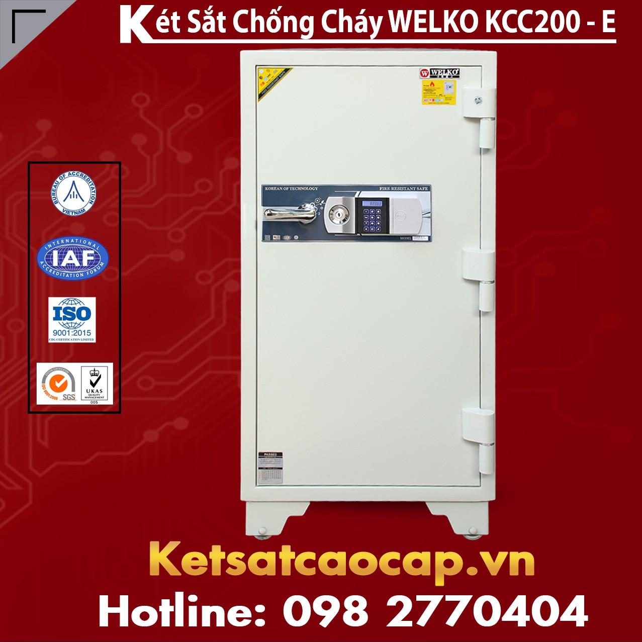 Két Sắt Giá Rẻ KCC200 E Silver - White