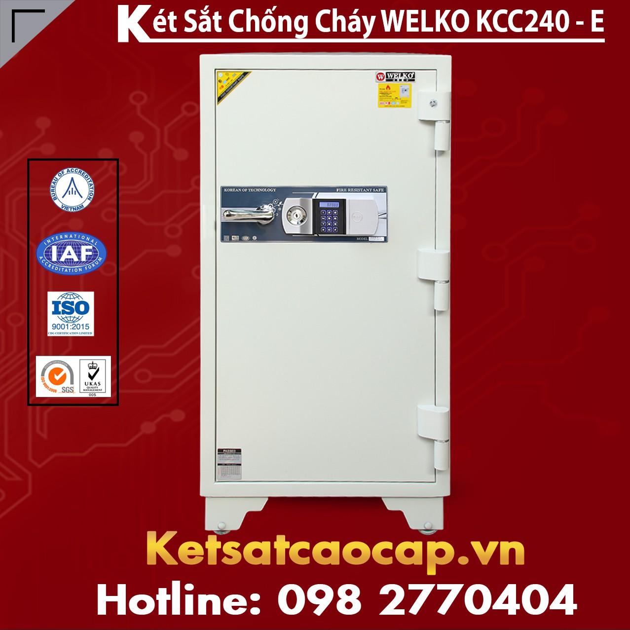 Két Sắt Giá Rẻ KCC240 E Silver - White