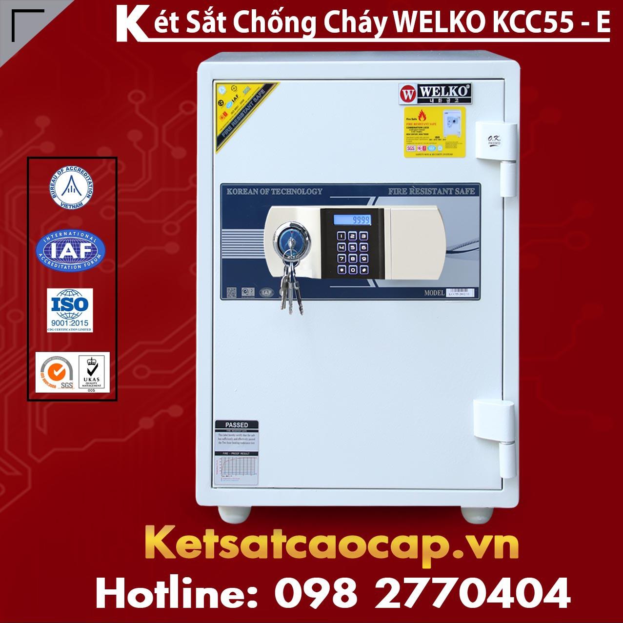 Két Sắt Giá Rẻ KCC55 E Silver - White