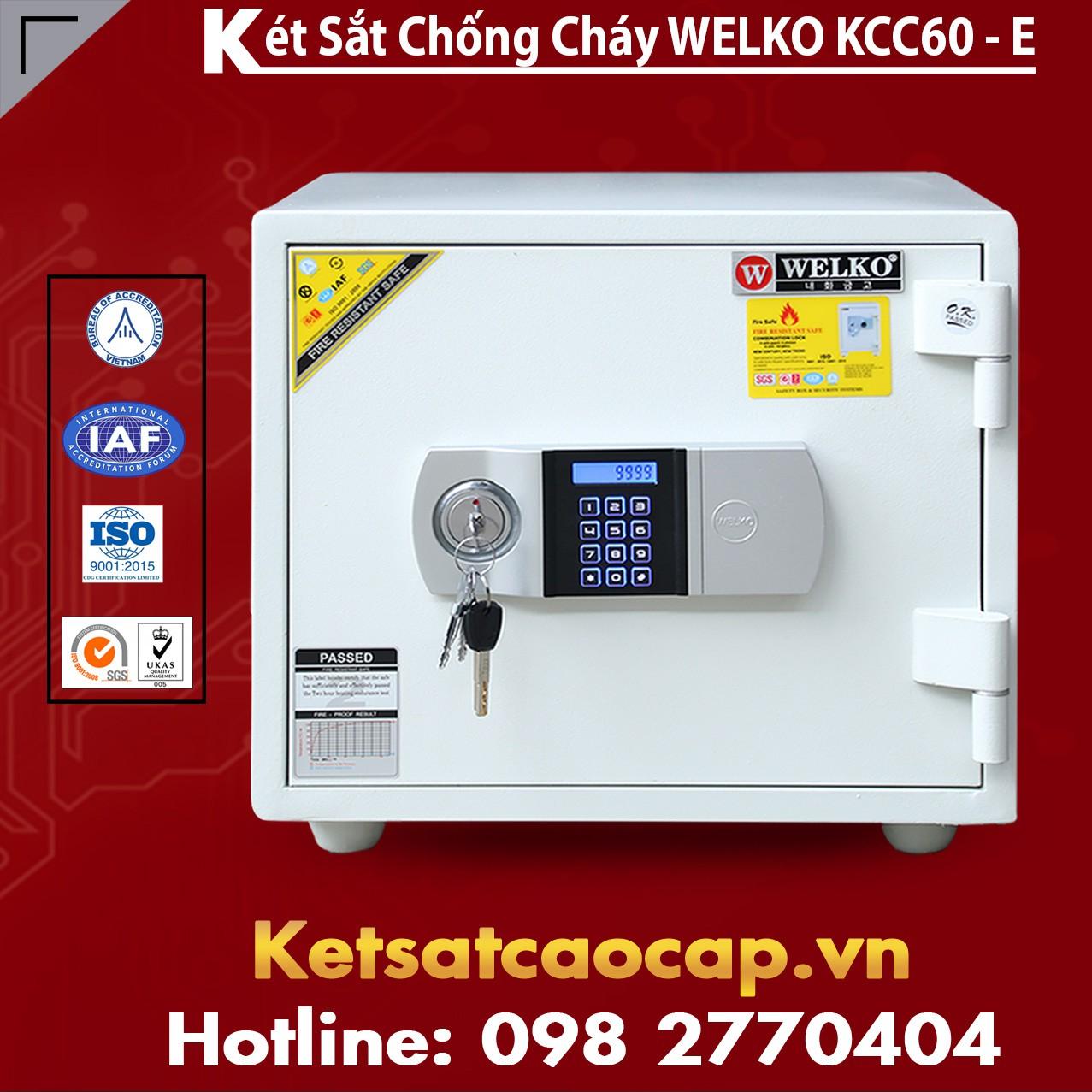 Két Sắt Giá Rẻ KCC60 E Silver - White