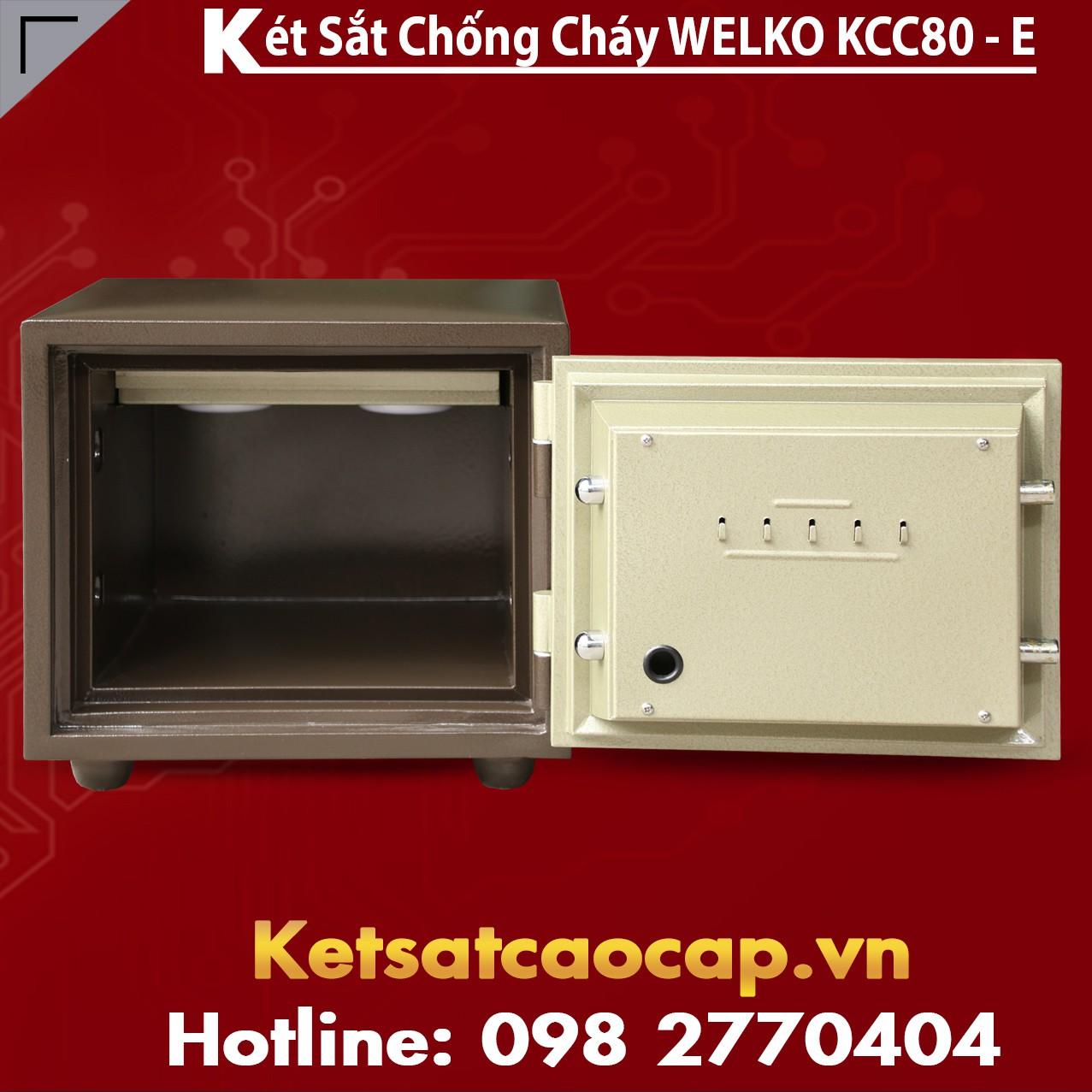 Két Sắt Báo Động KCC80 E Silver - Brown