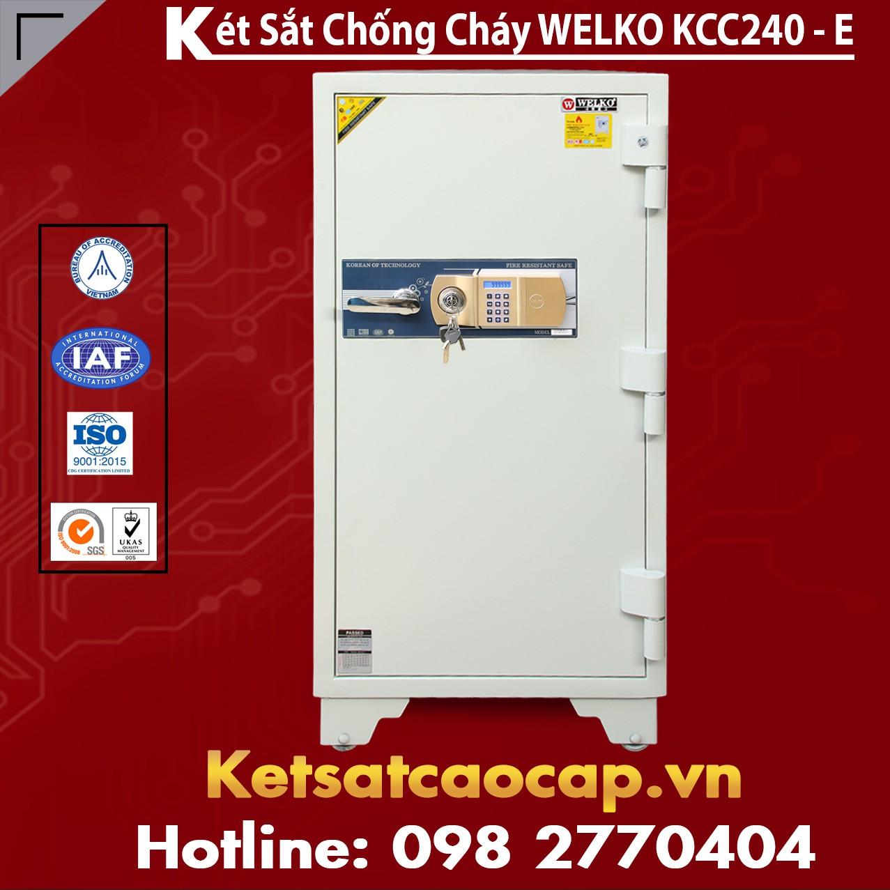 Két Sắt Thần Tài WELKO KCC240 - E Gold