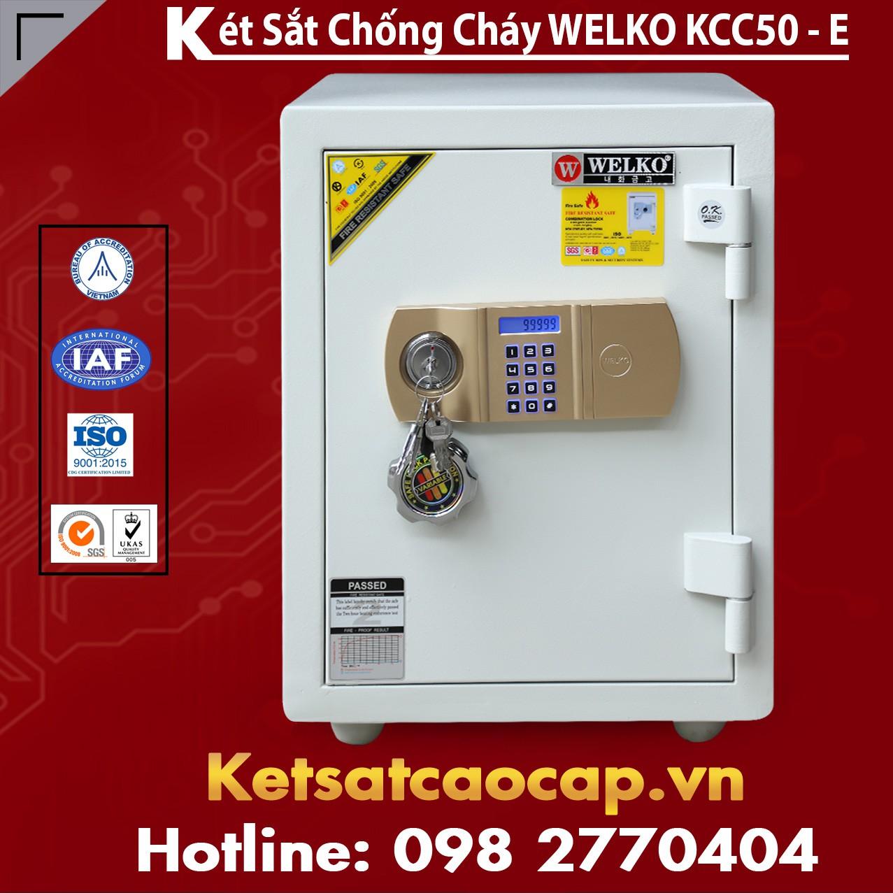 Két Sắt Thần Tài WELKO KCC50 - E Gold