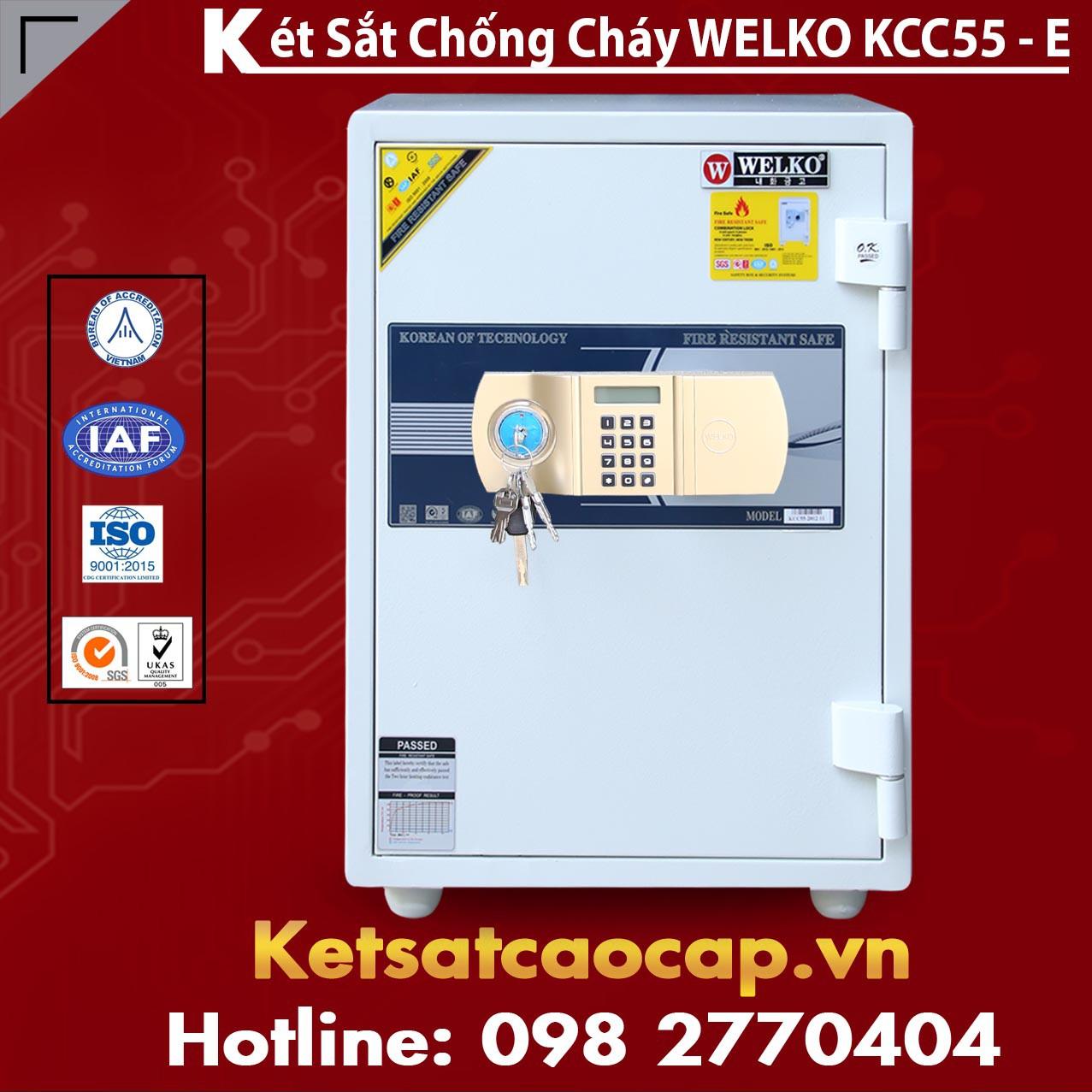 Két Sắt Thần Tài WELKO KCC55 - E Gold