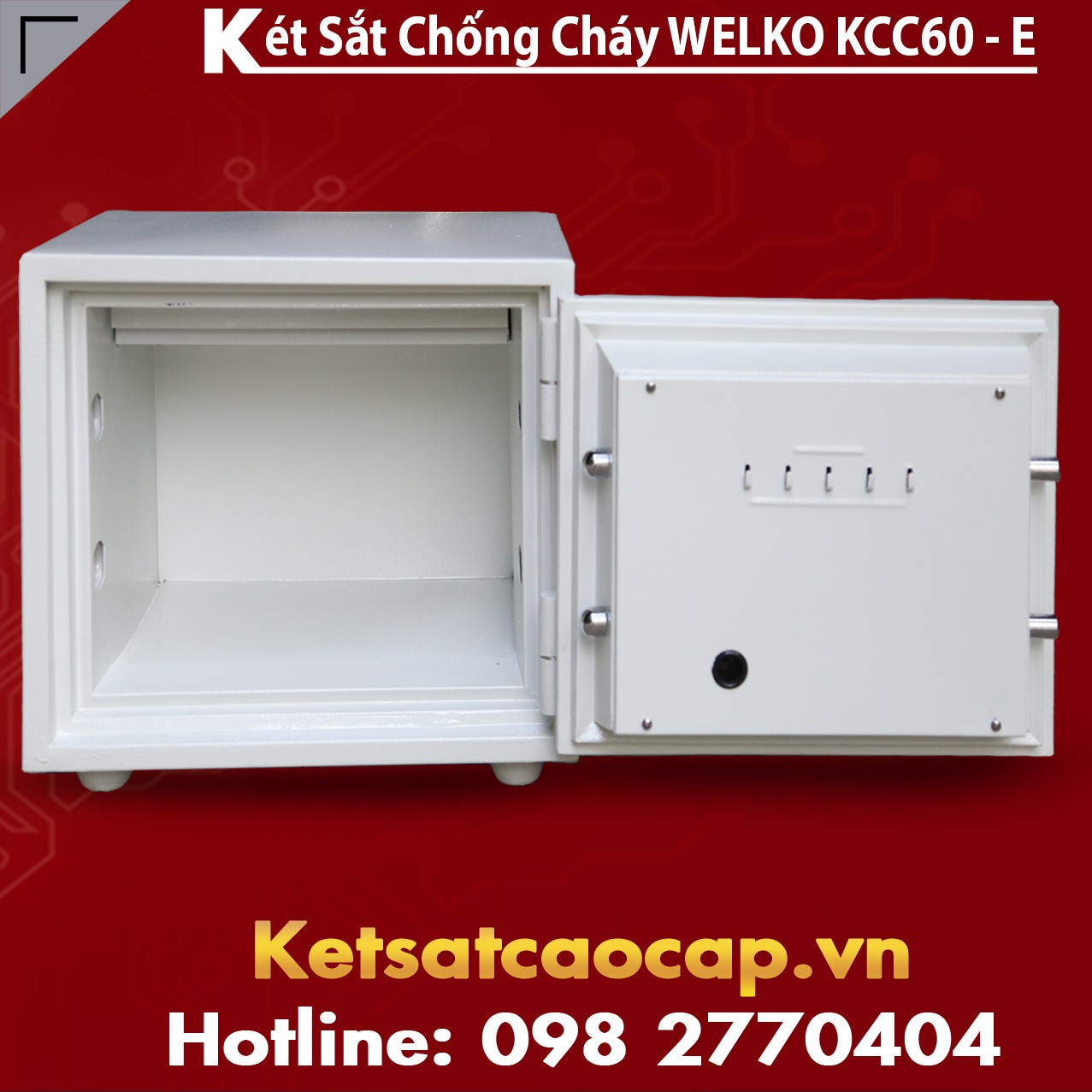 Két Sắt Thần Tài WELKO KCC60 - E Gold