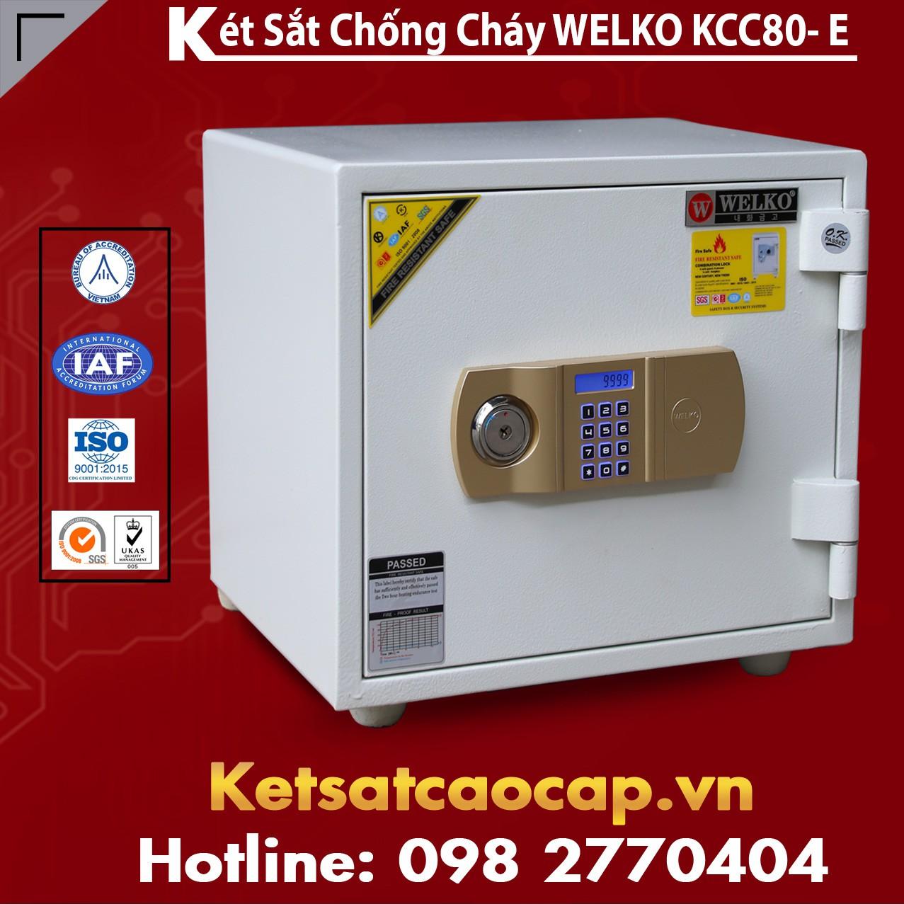 Két Sắt Thần Tài WELKO KCC80 - E Gold