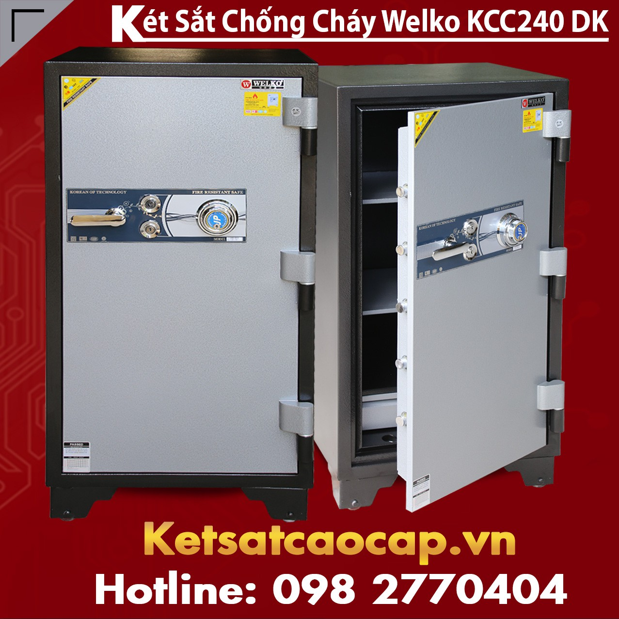 két sắt điện tử welko KCC55 FE hòa bình