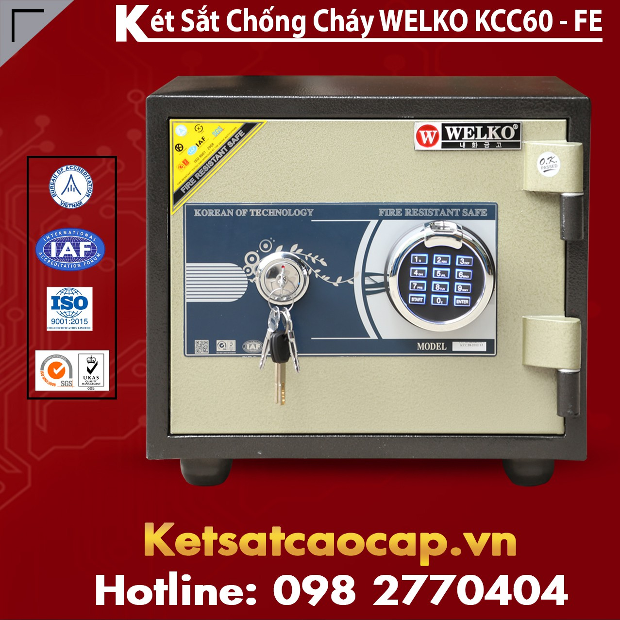 Két Sắt Vân Tay KCC60 - FE