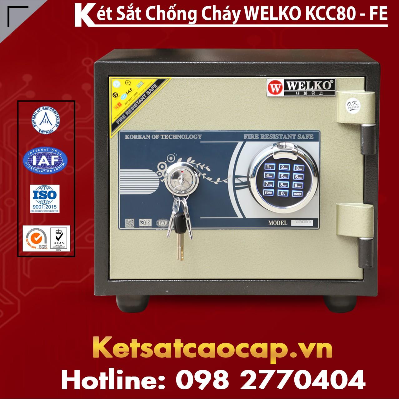 Két Sắt Vân Tay KCC80 - FE