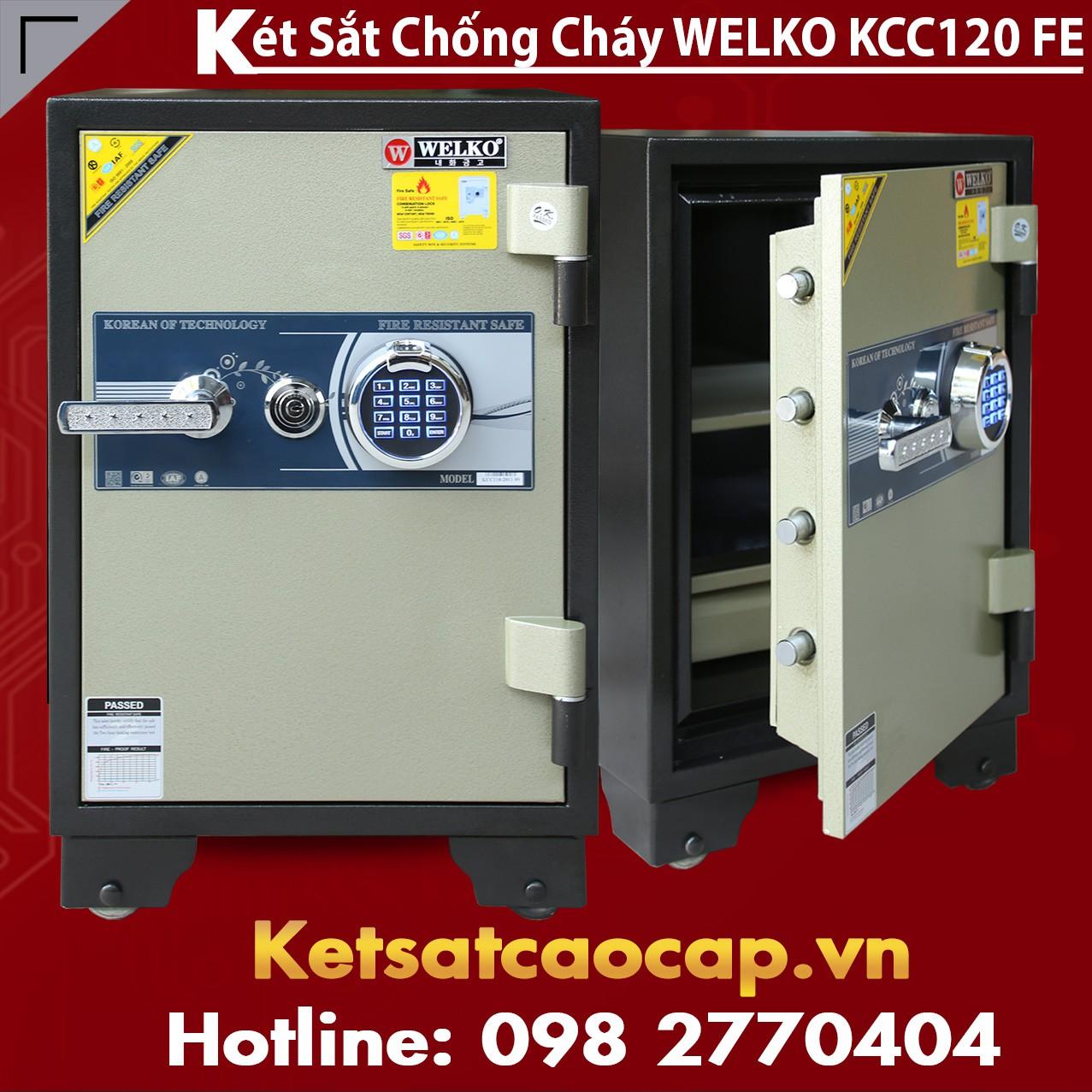 Két Sắt Vân Tay WELKO KCC120 FE
