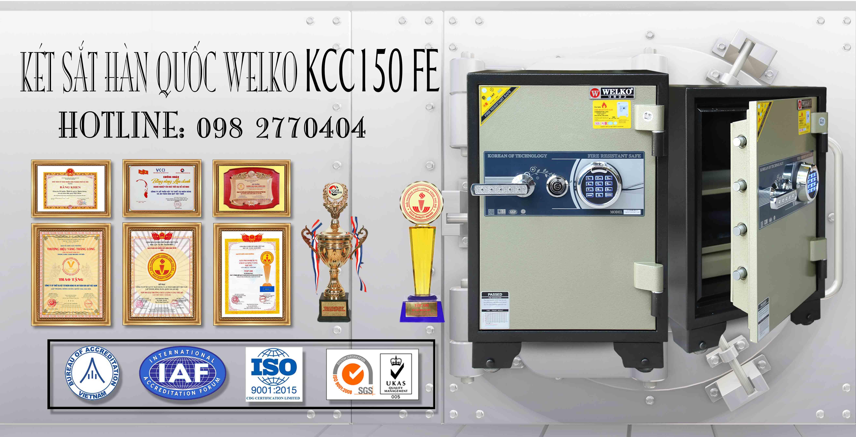 hình ảnh sản phẩm Két Sắt Vân Tay WELKO KCC150 FE
