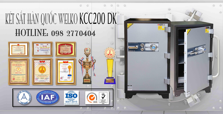 hình ảnh sản phẩm Két Sắt Bình Dương WELKO KCC200 E (Sửa)