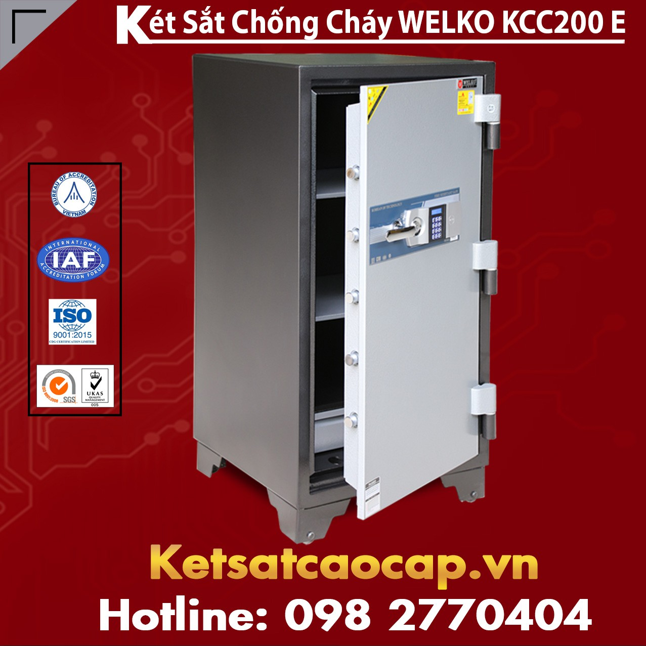 Két Sắt Bình Dương WELKO KCC200 E (Sửa)