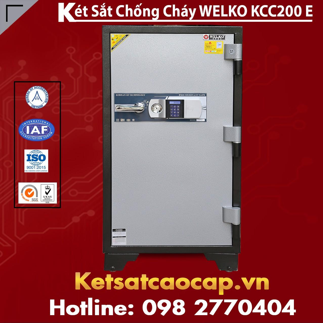 Két Sắt Điện Tử KCC200 E Silver