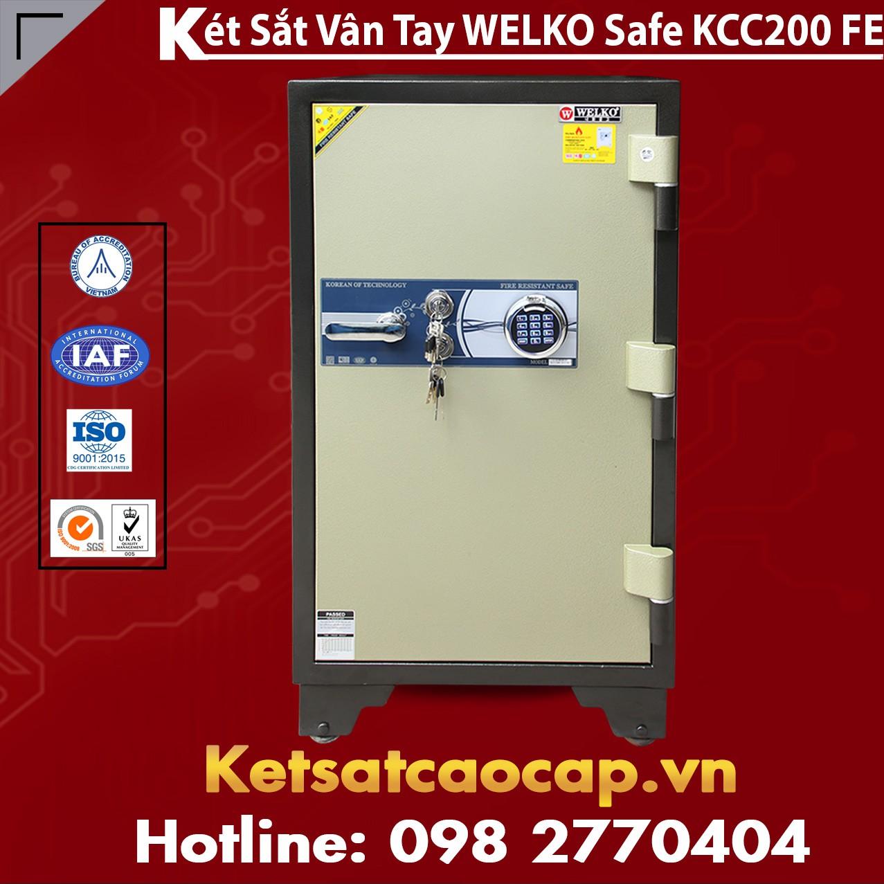 Két Sắt Vân Tay WELKO KCC200 FE