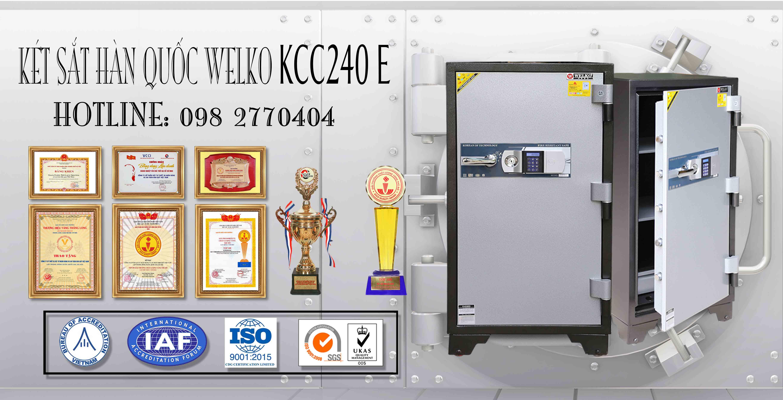 hình ảnh sản phẩm Két Sắt Bình Dương KCC240 E Silver