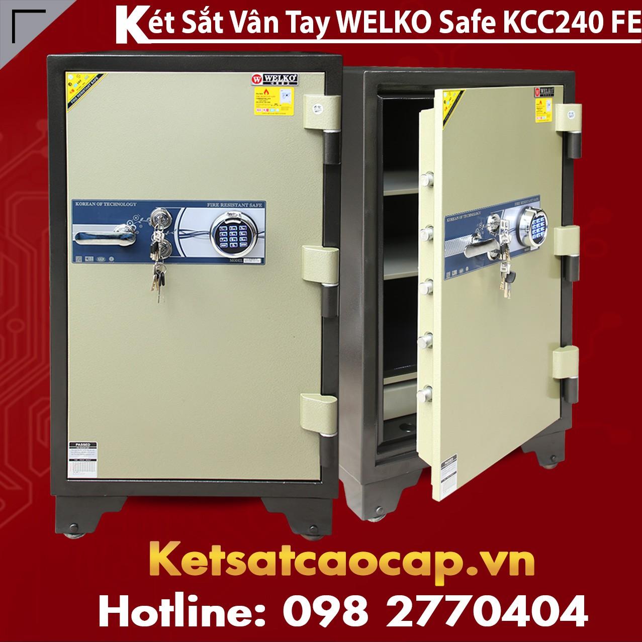 Két Sắt Vân Tay WELKO KCC240 FE
