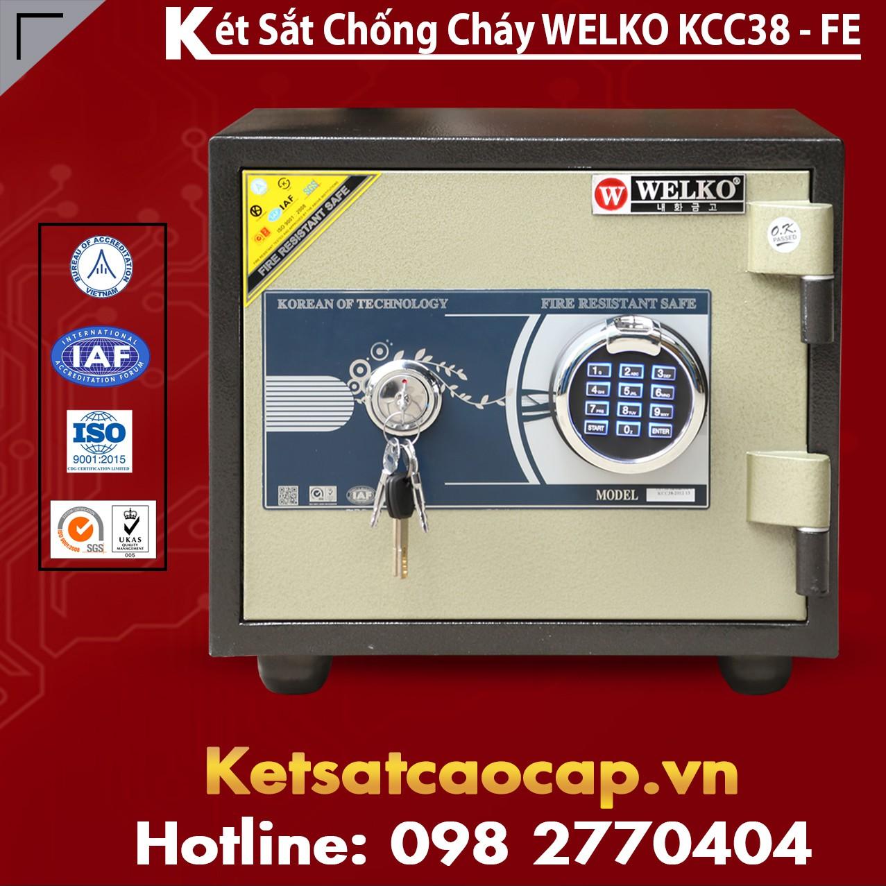 Két Sắt Vân Tay KCC38 - FE