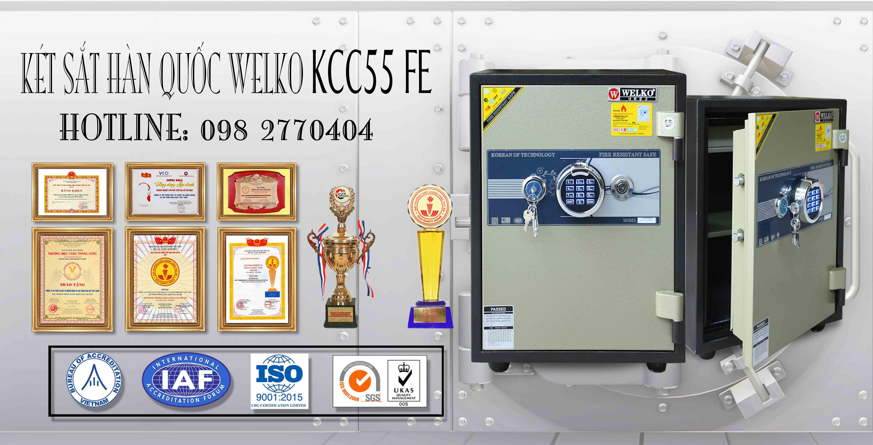 hình ảnh sản phẩm Két Sắt Vân Tay WELKO KCC55 FE