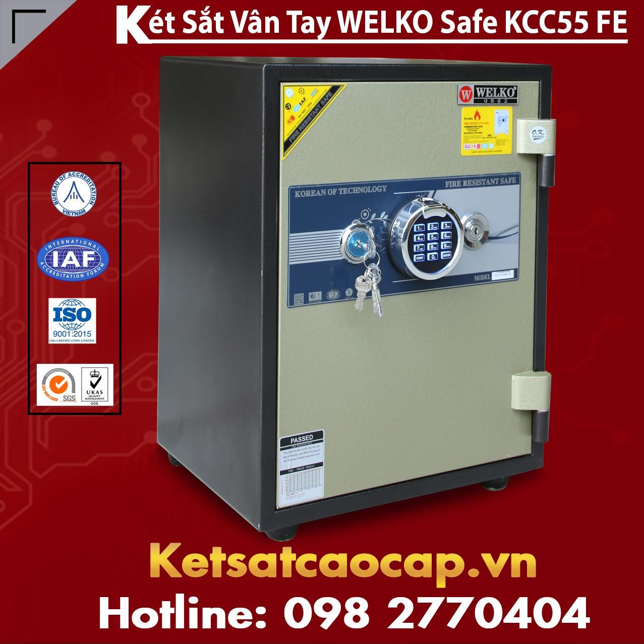 Két Sắt Vân Tay WELKO KCC55 FE