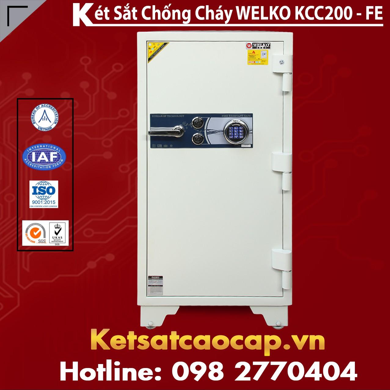 Két Sắt Tổng Thống KCC200 FE - White
