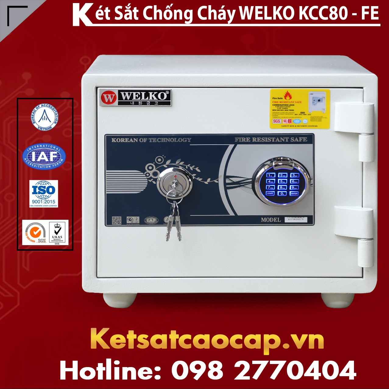 Két Sắt Tổng Thống KCC80 FE - White