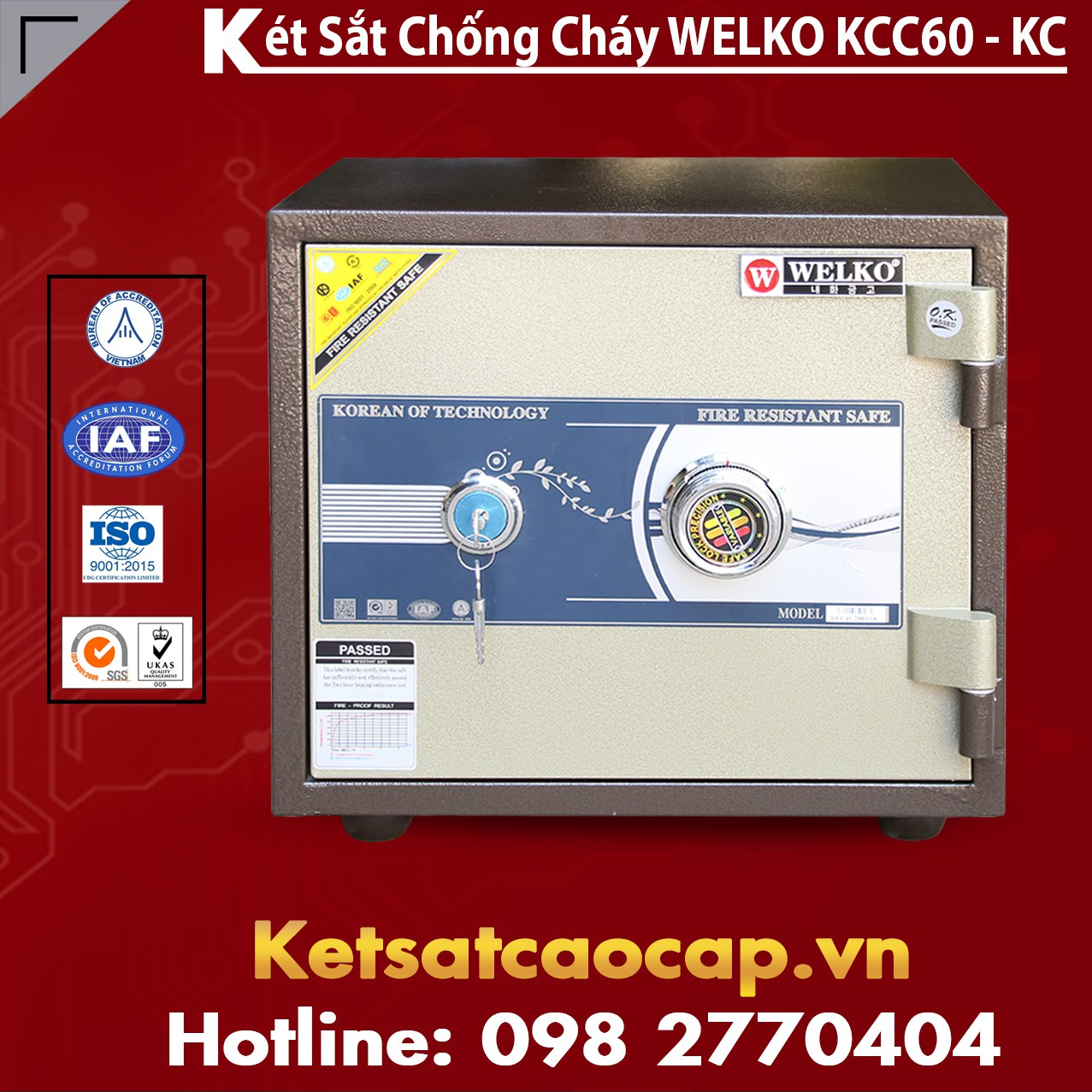 Két Sắt Mini Hàn Quốc KCC60 - KC