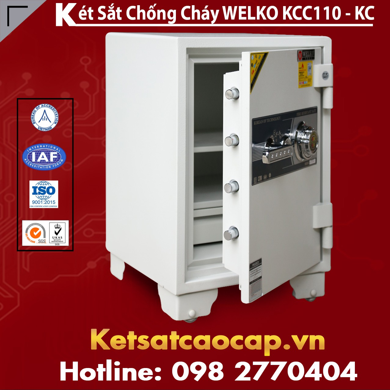 Mua Két Sắt KCC110 White - KC