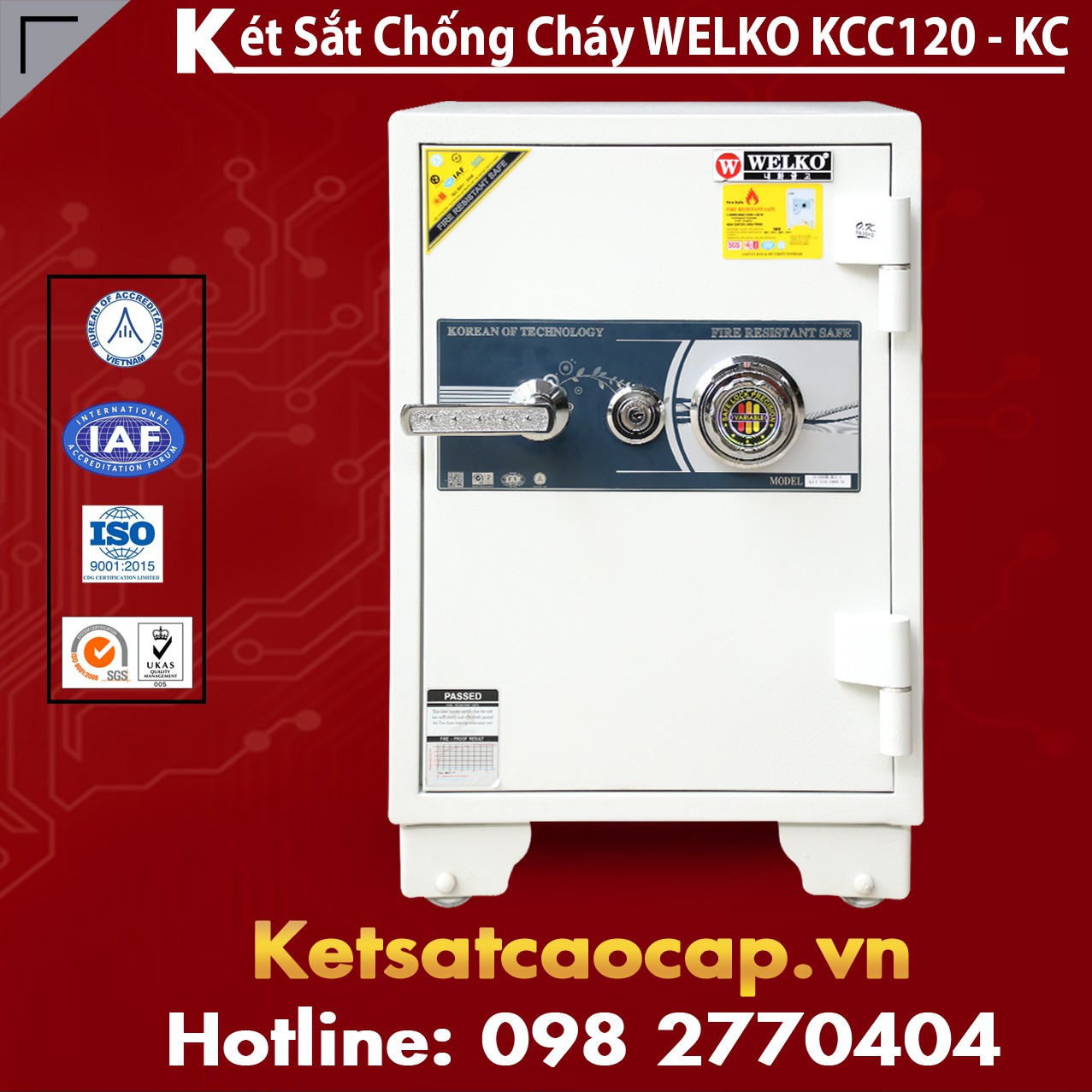 Mua Két Sắt KCC120 White - KC
