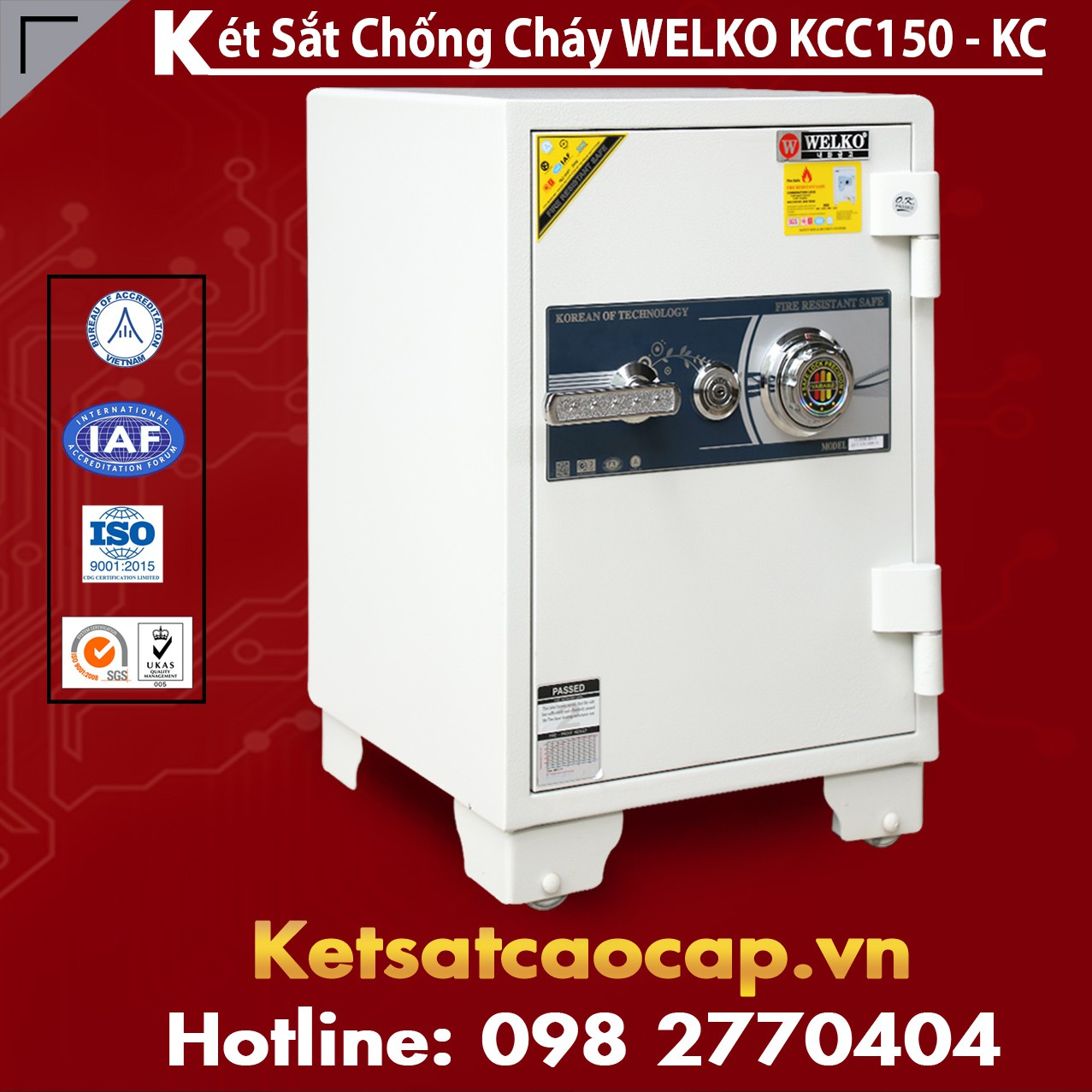 Mua Két Sắt KCC150 White - KC