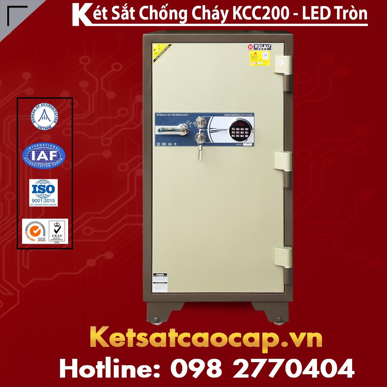 Két Sắt Bình Dương WELKO KCC200 - LED