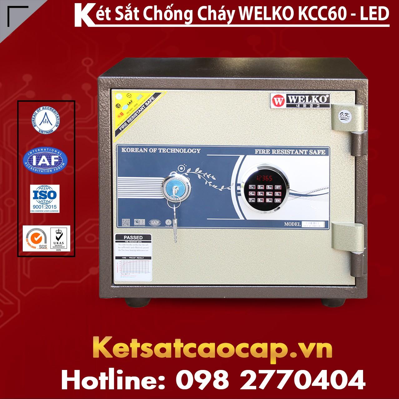 Két Sắt Bình Dương WELKO KCC60 - LED
