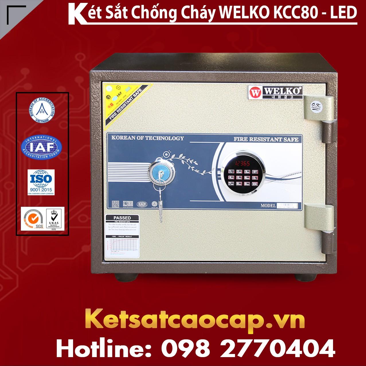 Két Sắt Bình Dương WELKO KCC80 - LED