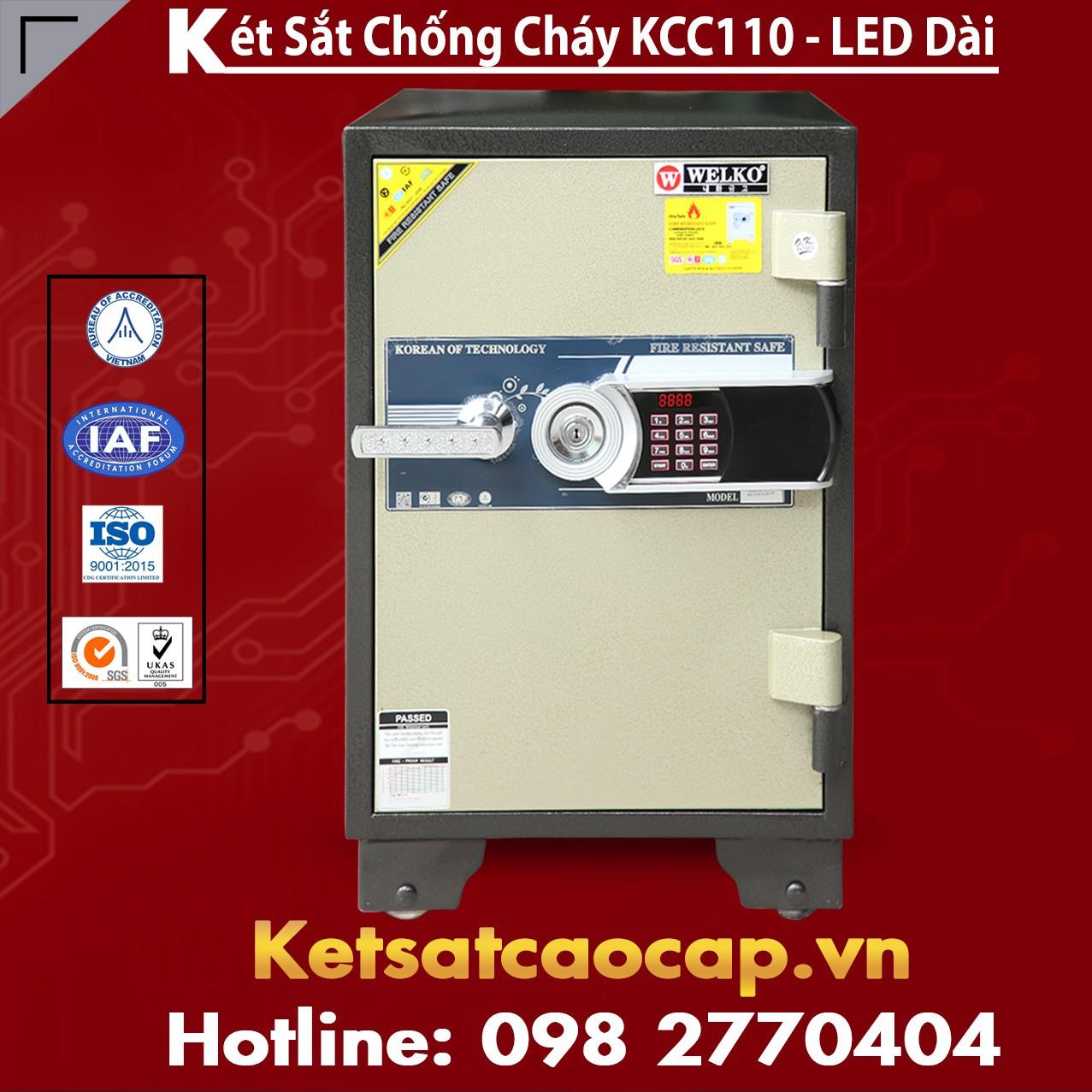 Két Sắt Văn Phòng Cao Cấp WELKO KCC110 - Led Dài