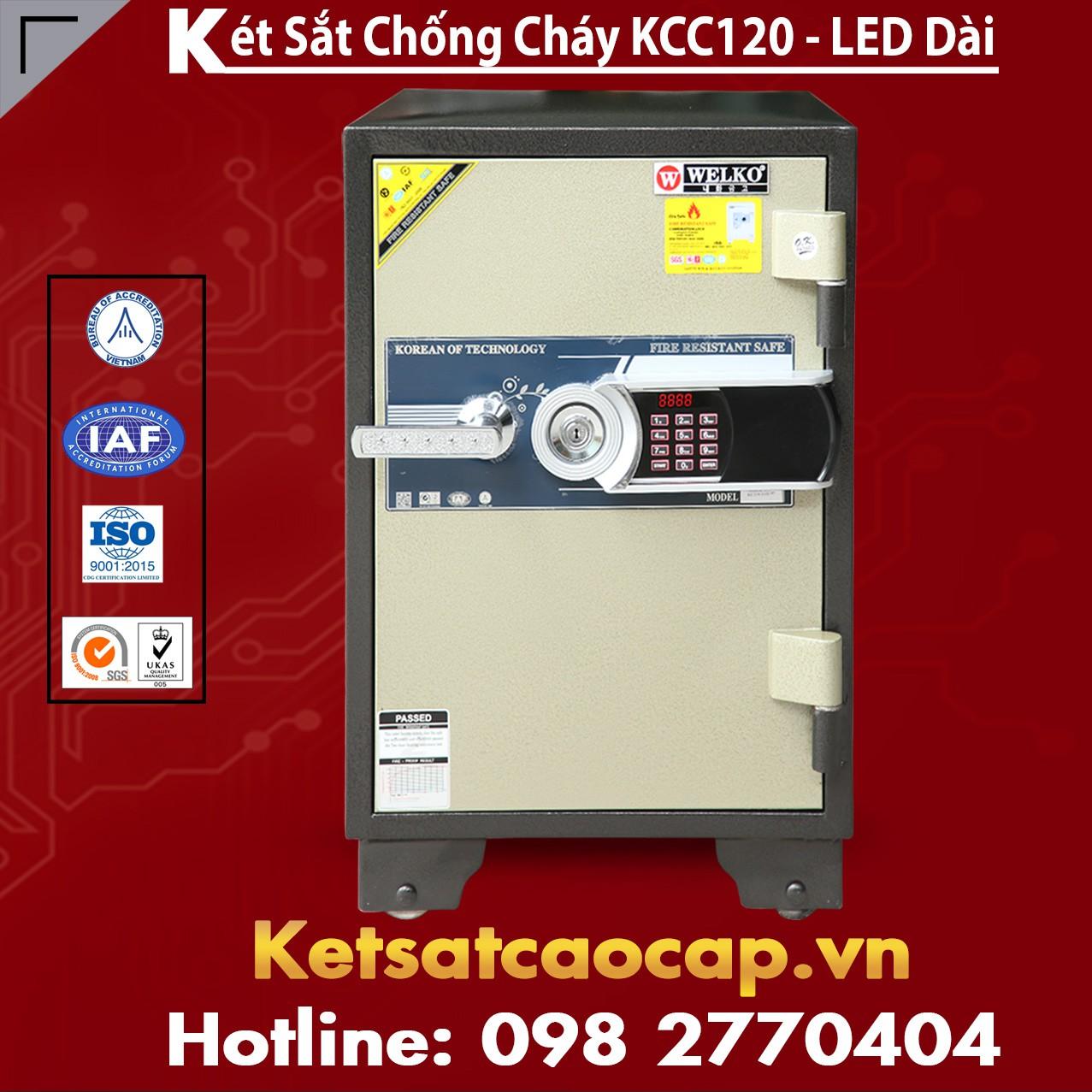Két Sắt Văn Phòng Cao Cấp WELKO KCC120 - Led Dài
