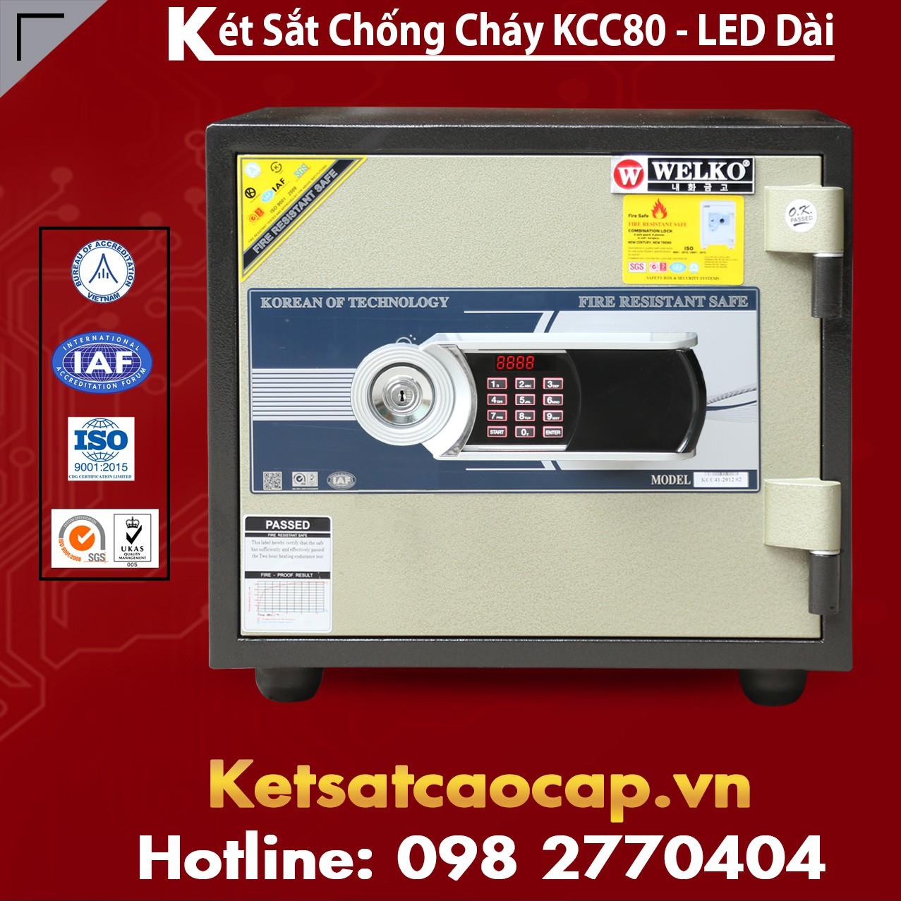 Két Sắt Văn Phòng Cao Cấp WELKO KCC80 - Led Dài