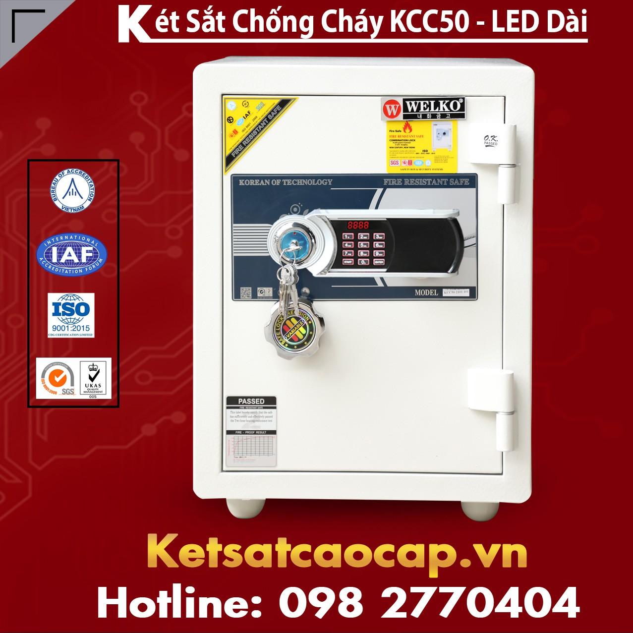 Két Sắt Chống Cháy WELKO KCC50- Led Dài