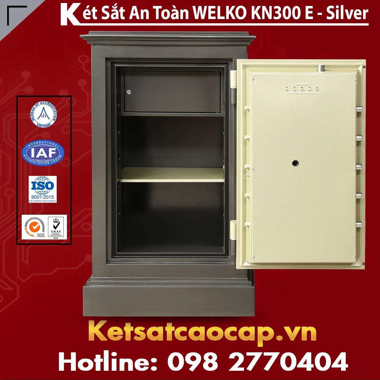 Két Sắt Liên Doanh Hàn Quốc WELKO KN300 Black E Silver