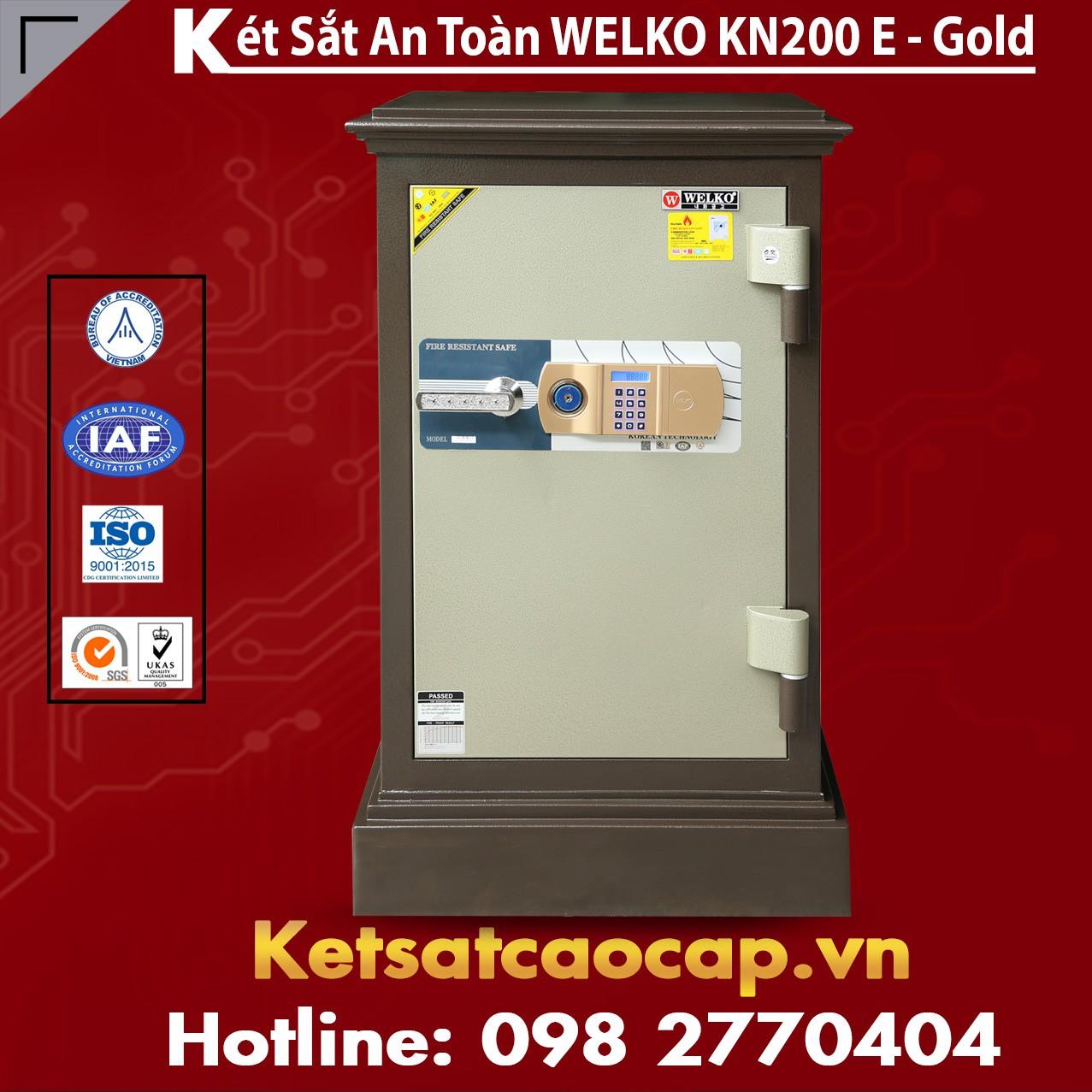Két Sắt Công Ty Văn Phòng WELKO KN200 Brown - E Gold