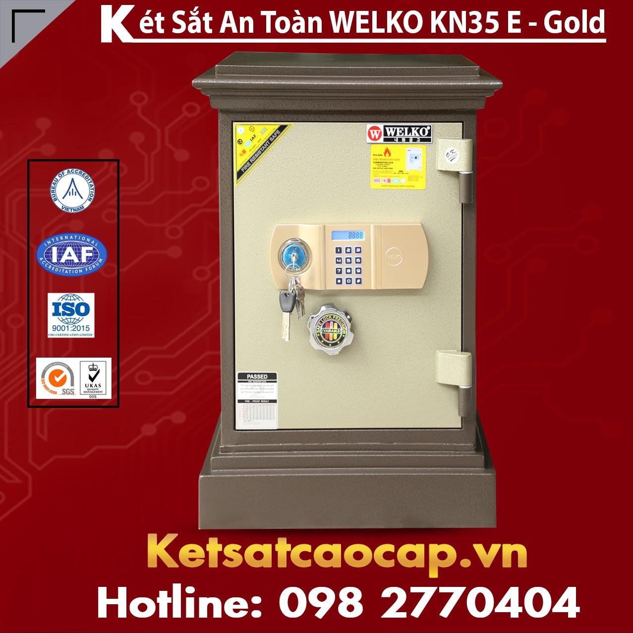 Két Sắt Công Ty Văn Phòng WELKO KN35 Brown - E Gold