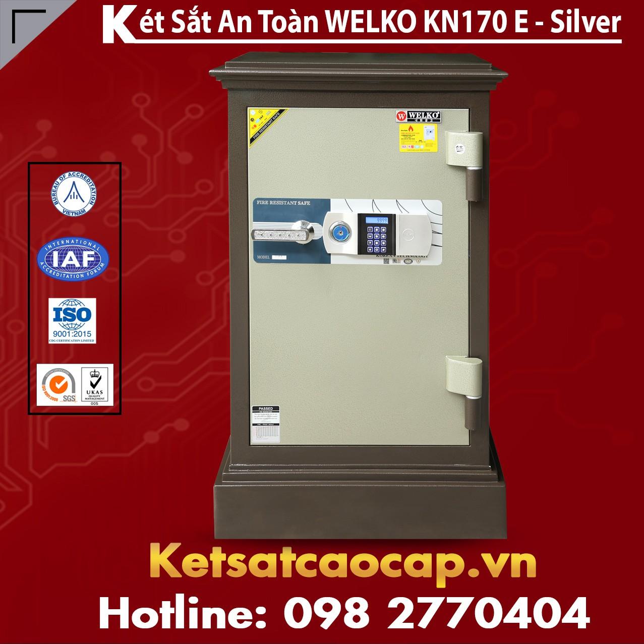 Két Sắt Cao Cấp WELKO KN170 Brown - E Silver