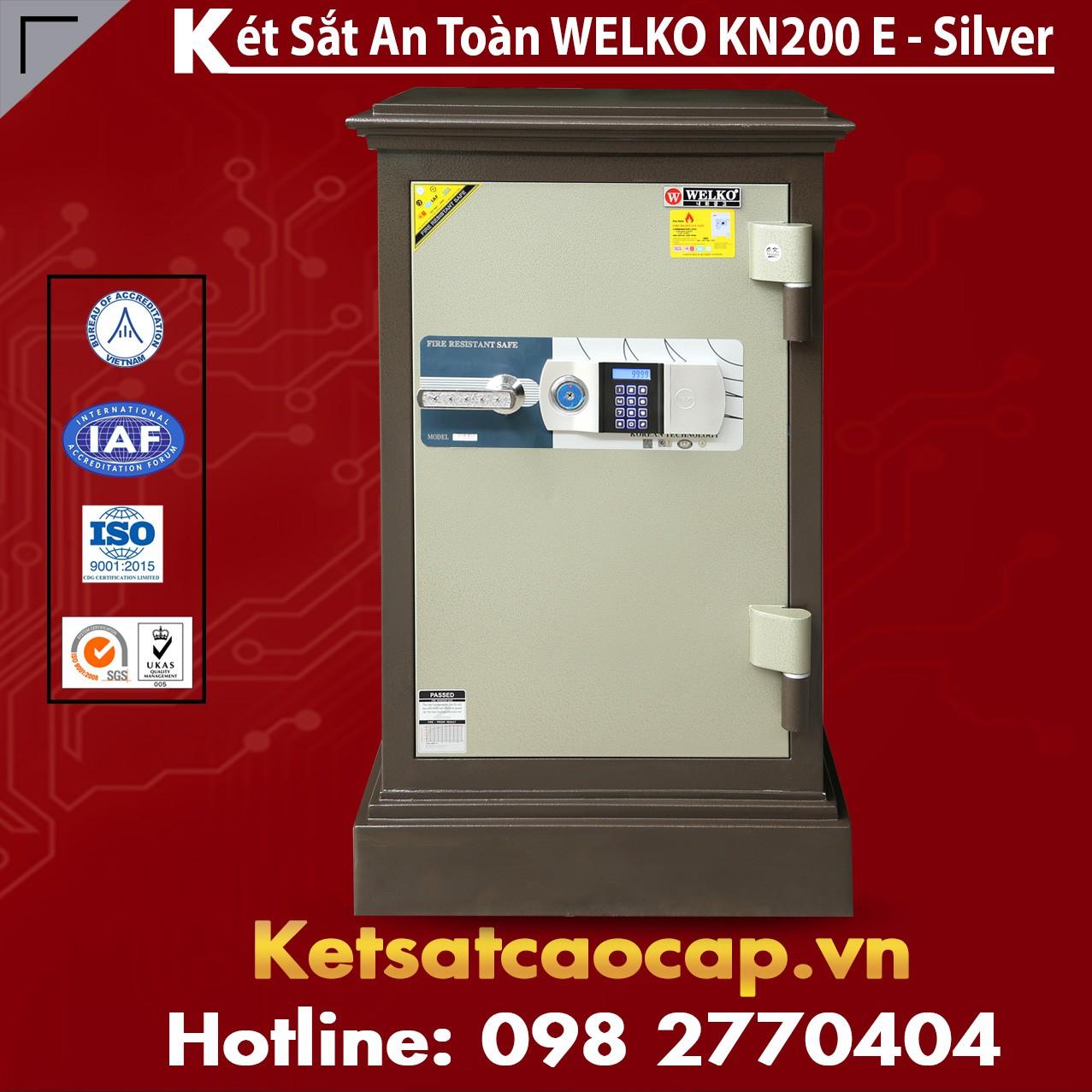 Két Sắt Cao Cấp WELKO KN200 Brown - E Silver
